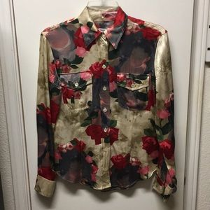 Moschino Couture silk blouse shirt 6 8 Italy